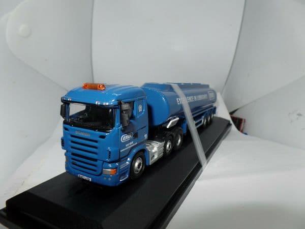 Oxford 76SHL04TK SHL04TK 1/76 OO Scania Highline Tanker - Exol Lubricants Worn Box